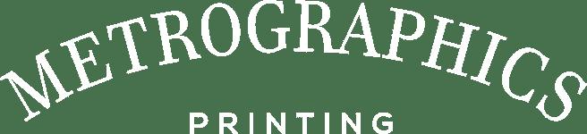 Metrographics Printing White Logo